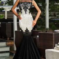 Sequin Applique Evening Party Cute Cocktail Mermaid Prom Dress