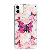 3D Butterfly Design Stand Slim Case for iPhone 12 / 12 Pro 6.1 (Hot