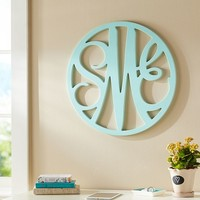 Wooden Cut-Out Script Monogram