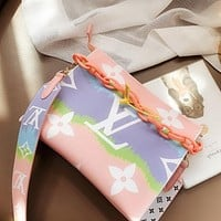 Hipgirls Louis Vuitton LV new tie-dye gradient women shopping shoulder bag diagonal bag