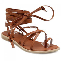 Leisure Flat Heel and Cross Straps Design Sandals For Women