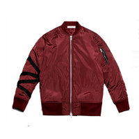 Burgundy Kayak Bomber Jacket