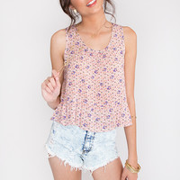 Lazy Daisy Top - Red