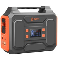 BigBlue 250Wh Portable Power Station with 110V Pure Sine Wave AC Outlet/2 DC Ports/4 USB Ports, CPAP Battery Backup Power Supply, Battery Generator with Flashlight for Outdoors Camping, Emergency Orange