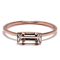 Bing Bang NYC - Tiny Baguette Ring