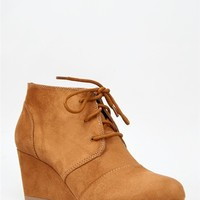 British Tan Oxford Lace Up Booties