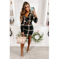 Thanks To You Plaid Two Piece Set (Multi)