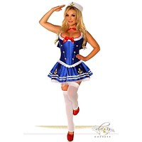 Daisy 4 PC Sexy First Mate Sailor Costume
