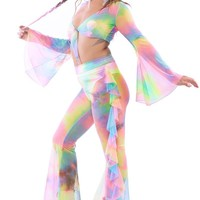 Rainbow Aura Bell Sleeve Top