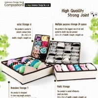TSSS Drawer Dividers Closet Organizers Bra Underwear Storage Boxes 4 Set (6 cell,7cell,8cell,24cell):Amazon:Home & Kitchen