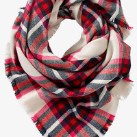 PLAID BLANKET SCARF from EXPRESS