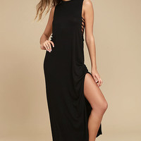 Lucy Love Gypsy Thunder Black Maxi Dress
