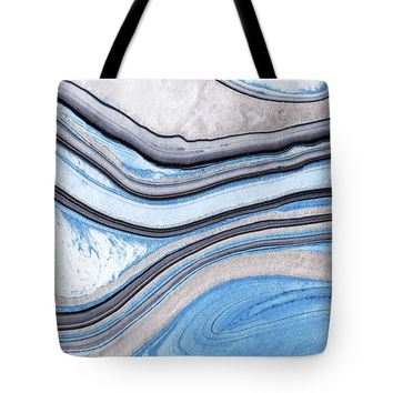 Blue Abstract Art - Water And Sky - Sharon Cummings Tote Bag