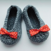 Crochet slippers baby girl, pattern by Beatifico - Craftsy