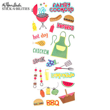Family Cookout Stickers   Hobby Lobby   626606