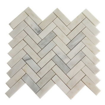 Shop allen + roth Genuine Stone White Marble Natural Stone Mosaic Indoor/Outdoor Floor Tile (Common: 13-in x 13-in; Actual: 13.1-in x 13.2-in) at Lowe's