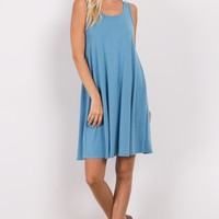 Blue-Basic-Sleeveless-Dress