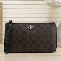 COACH New fashion pattern print women wallet hand bag