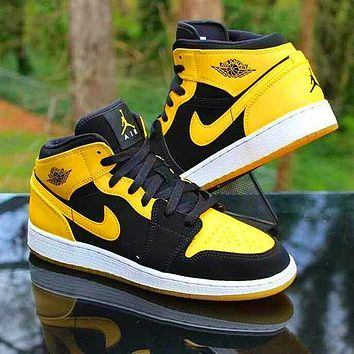 """Air Jordan 1 Mid """"New Love"""" casual all-match sneakers basketball shoes"""