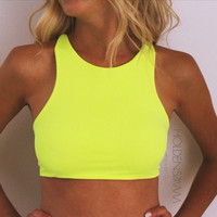 Criss-Cross Halter Top -- Choose Your Color