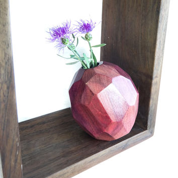 W/S Faceted Bud Vase - Purpleheart