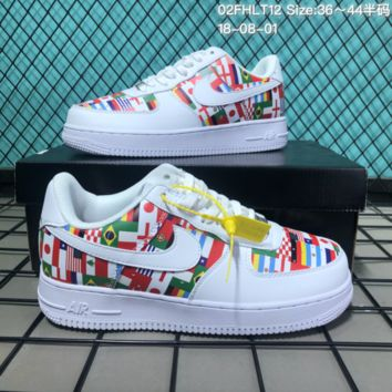 HCXX N148 Nike Air Force 1 Low Flag Casual Skate Shoes White