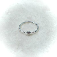 Super Thin Sterling Silver Nose Ring Ball