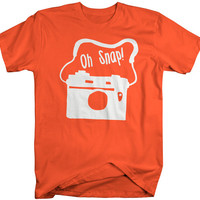 Men's Funny Oh Snap Camera Hipster T-Shirt Hilarious Shirts Comedy Tees For HIpsters Photographer