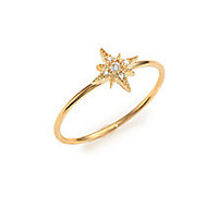 Mizuki - Sea Of Beauty Diamond & 14k Yellow Gold Star Ring - Saks Fifth Avenue Mobile