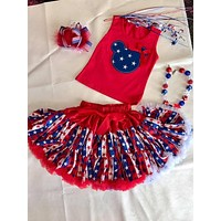 Princess Red White Blue Stars TuTu Skirt