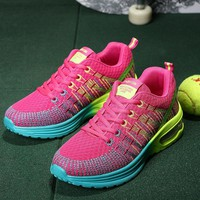 LUONTNOR Sport Women Cushion Sports Shoes Outdoor Breathable Rose Mesh Sneakers Woman Athletic Cushioning Running Shoe Trainers