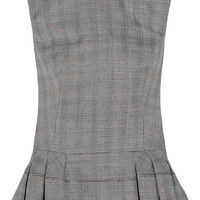 Alexander McQueen - Prince of Wales check wool-blend peplum top