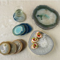 Agate Plates and Coasters - VivaTerra