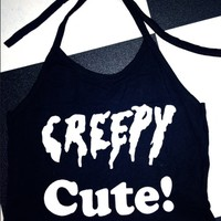 SWEET LORD O'MIGHTY! CREEPY CUTE HALTER IN BLACK