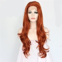 Orange Red Hair Synthetic Lace Front Wigs