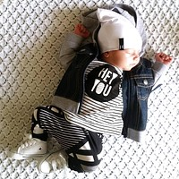 2017 Baby Boys Girls Clouds Pattern Clothes Sets T-shirts and Raindrop Pants Newborn Casual Outfits Infant Clothing