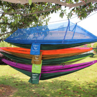 Two Person Outdoor Hammock With Mosquito Net Camping Swing