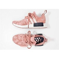 Adidas NMD R1 Boost Stylish Women Casual Sport Shoe Sneakers Pink I