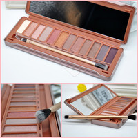 12 Full Colors Eyeshadow Cosmetics Matte Shimmer Make Up Professional Makeup Eye Shadow Palette eyeshadow for women with brush