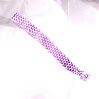 Purple Chevron Stretchy Headband