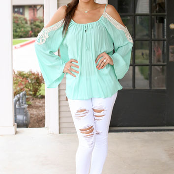 Ribbon in the Sky Top - Mint