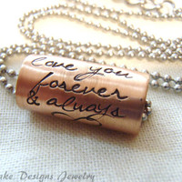 Custom text necklace personalized inspirational quote