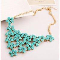 New fashion flower necklace female fashion necklace jewelry