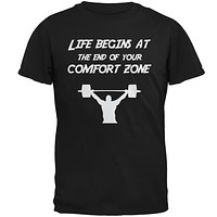 Comfort Zone Weight Lifting Black Adult T-Shirt