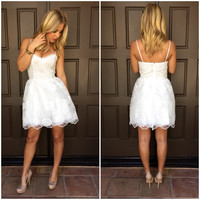 Blanco Delicate Babydoll Dress