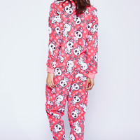 0737-48285009 Plush Pink Bunny Onesuit