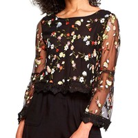 Clemin Floral Embroidered Top