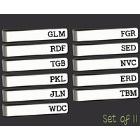 Set of 11 Personalized Tie Bars | Groomsman Gifts