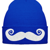 MUSTAGE EMBROIDERY HAT - Beanie Cuffed Knit Cap