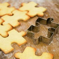 1 pcs New Puzzle Shape Cookie Cutter Cake Decorating Fondant Cutters Tool Cookies Stainless Steel biscoito CA50